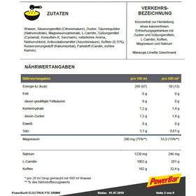 PowerBar Electrolyte Drink 1l, Passion Fruit-Lime Zero Sugar with Caffeine & L-Carnitin